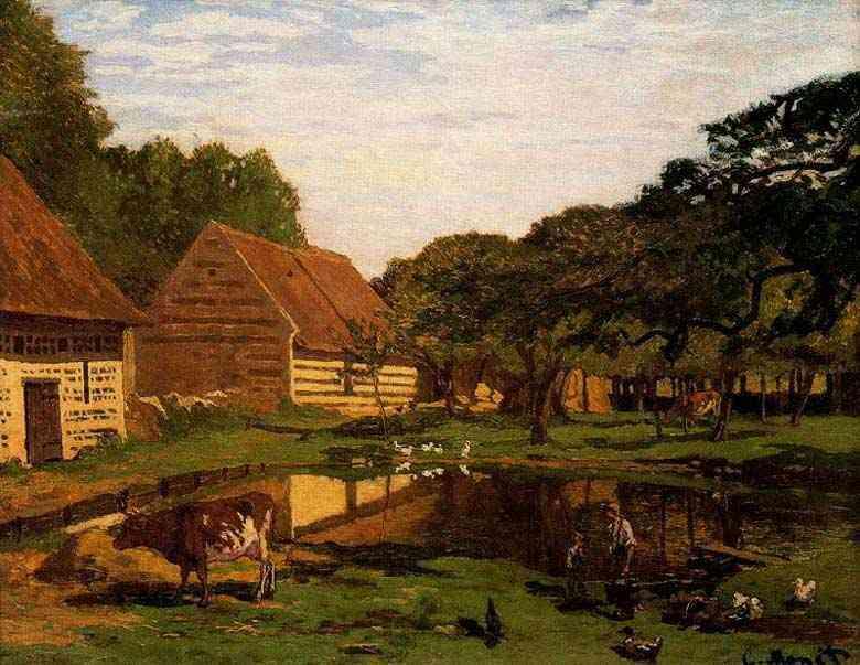 Claude Monet - Pátio de uma granja na Normandia