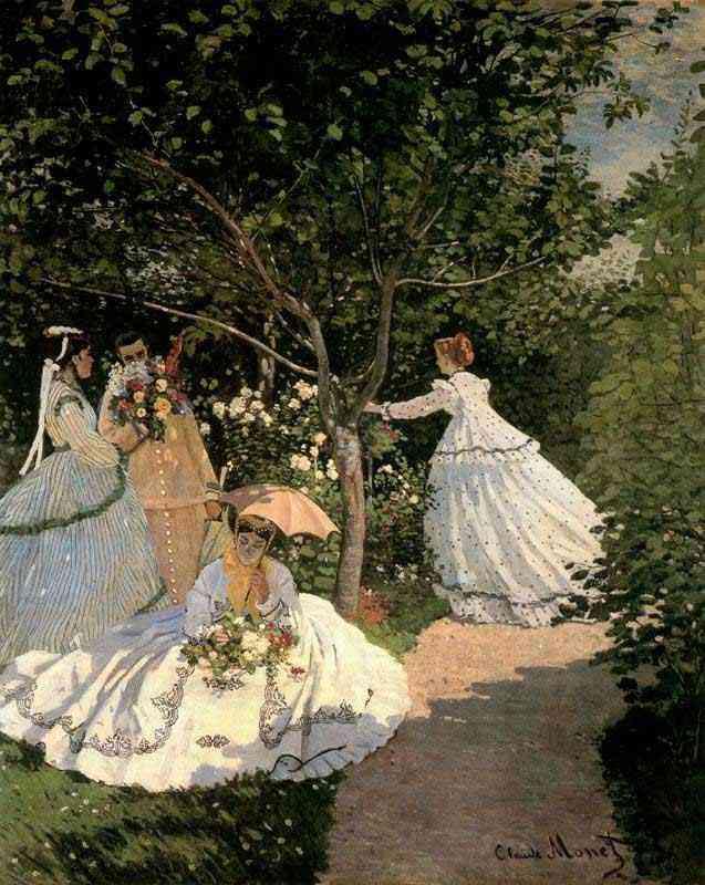 Claude Monet - Mulheres no jardim