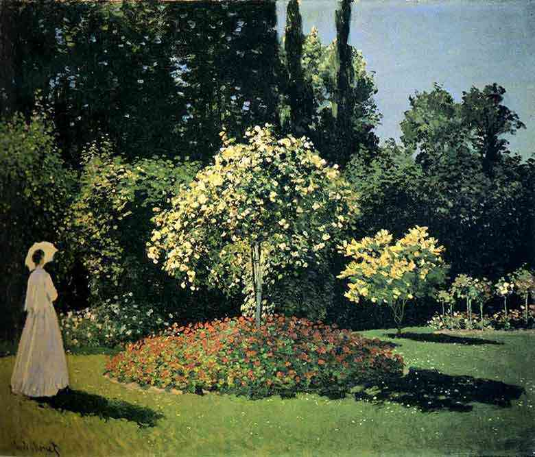 Claude Monet - Mulher em jardim de Saint-Adresse