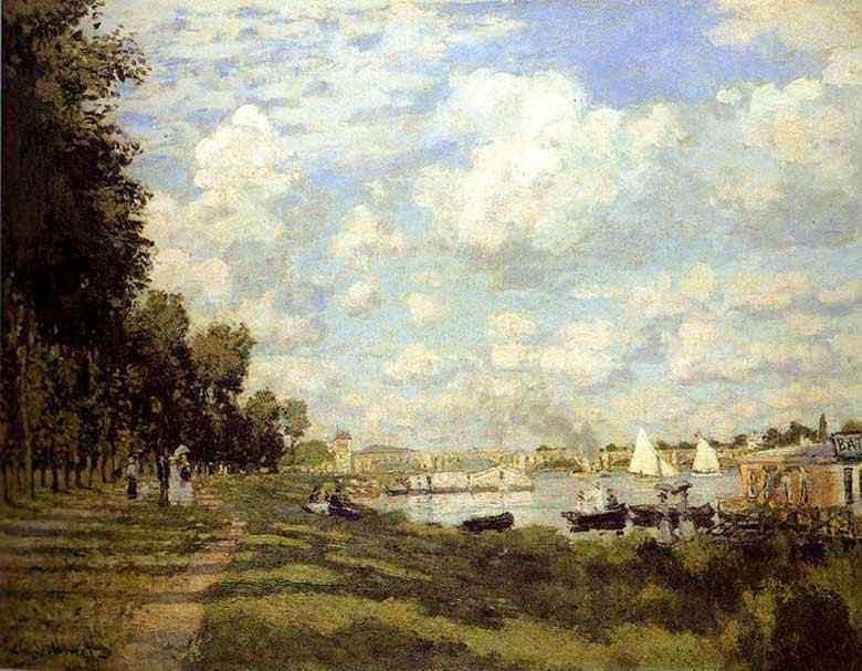 Claude Monet - O rio em Argenteuil