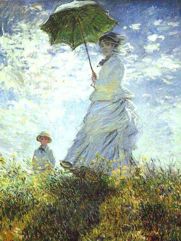 Claude Monet - Camille Monet e se irmão Jean