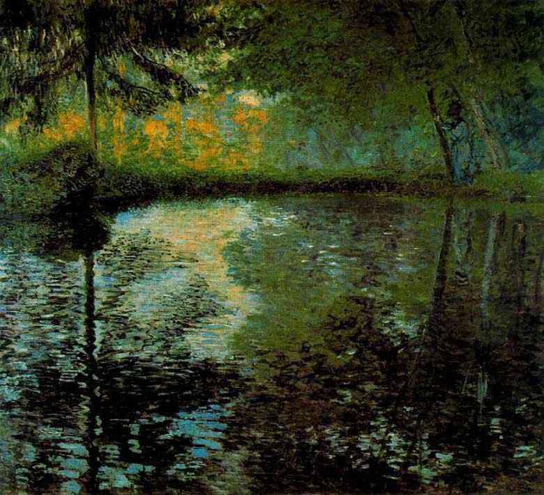 Claude Monet - O charco em Montgeron