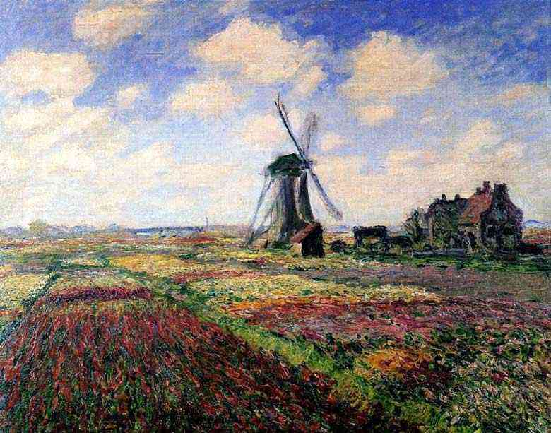 Claude Monet - Campo de tulipas na Holanda