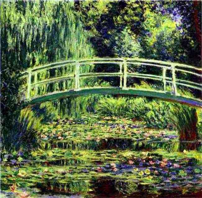 "Claude Monet - O charco de nenúfares (lótus) (ou ""Os Nenúfares brancos"")"