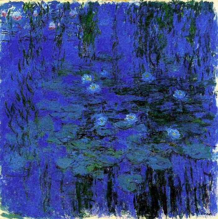 Claude Monet - Lilás aquático azul