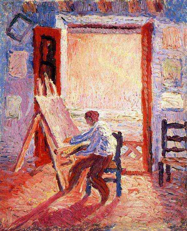Salvador Dali - Auto-retrato do artista, com cavalete