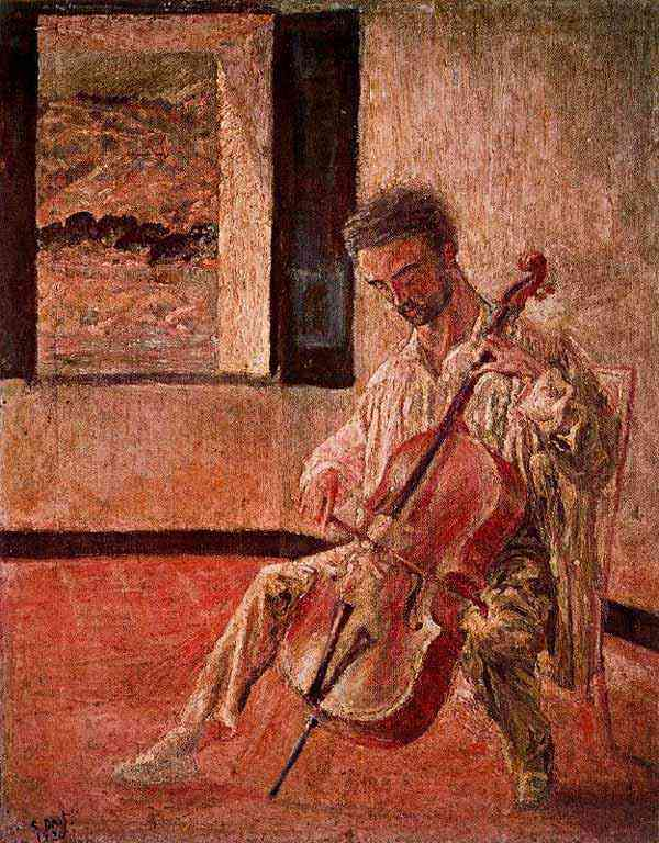 Salvador Dali - Retrato do violoncelista Ricard Pichot