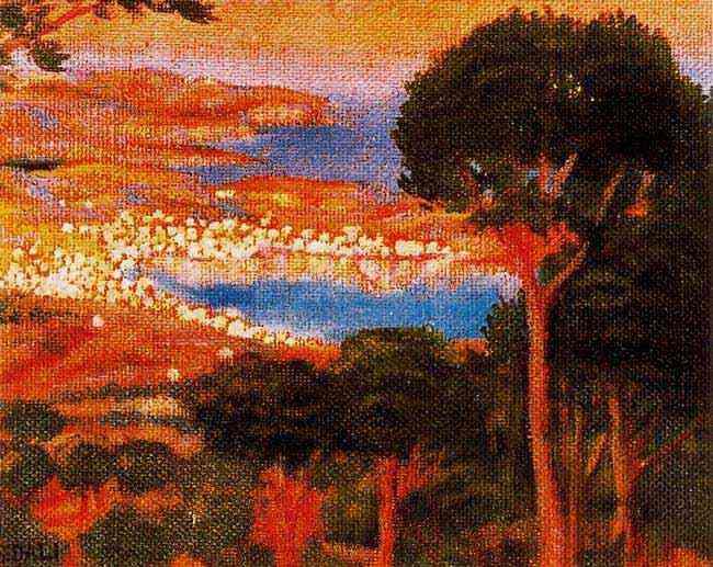 Salvador Dali - Vista de Cadaqués desde o Monte Pani