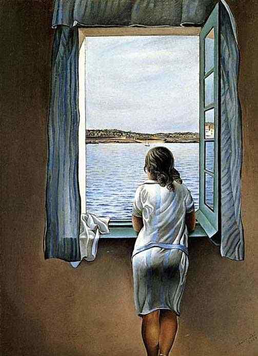 Salvador Dali - Moça na janela
