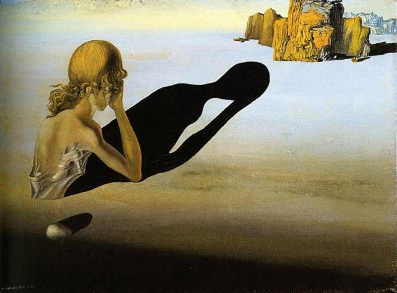 Salvador Dali - Remorso (ou Esfinge encravada na areia)