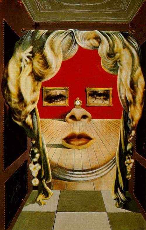 Salvador Dali - Rosto de Mae West que pode ser utilizado como apartamento surrealista