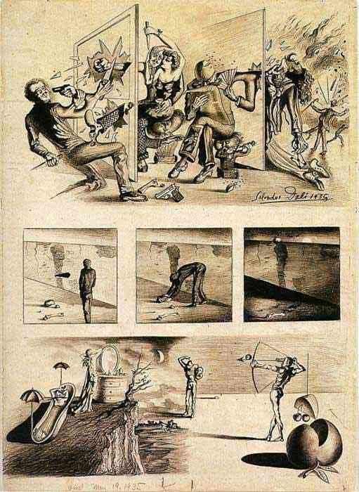 Salvador Dali - Gangterismo e visão patética de Nova Iorque