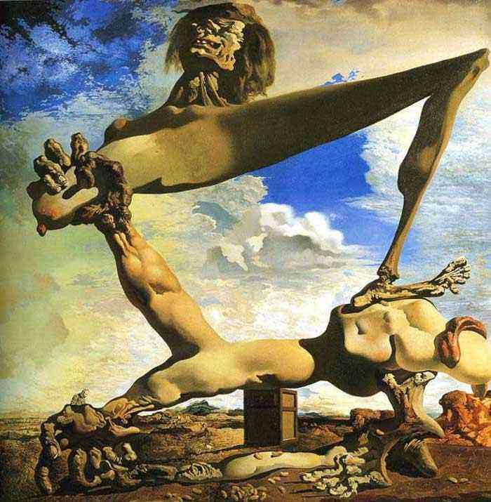 Salvador Dali - Construção macia de feijões fervidos (Premonição da Guerra Civil)