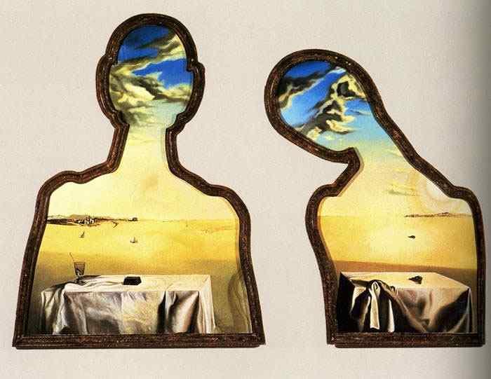 Salvador Dali - Um par com suas cabeças cheias de nuvens