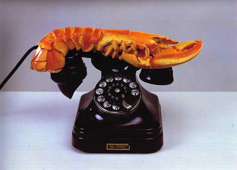 Salvador Dali - Telefone lagosta