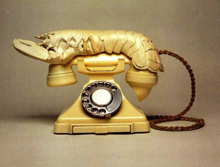 Salvador Dali - Telefone lagosta II