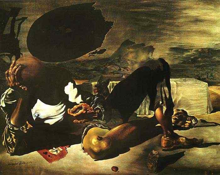 Salvador Dali - Filósofo iluminado pela luz da lua e o pôr-do-sol
