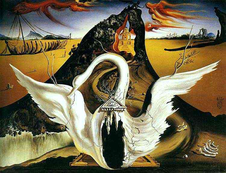 """Salvador Dali - As sirenas e seus agradecimentos (Decoração de Dali para """"Bacchanale"""""""