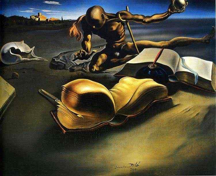 Salvador Dali - Livro transformando-se em uma mulher nua