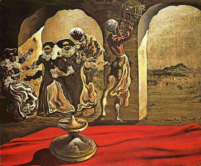 Salvador Dali - Busto invisível de Voltaire