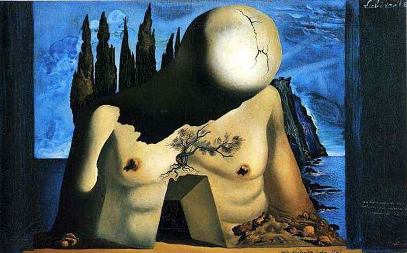 """Salvador Dali - Projeto para jogo de cortinas do """"Labirinto I"""""""