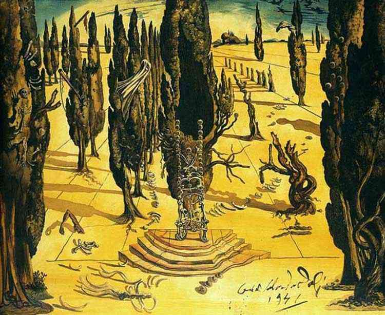 """Salvador Dali - Projeto para jogo de cortinas do """"Labirinto II"""""""