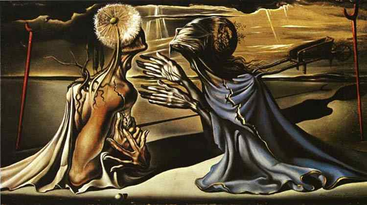 """Salvador Dali - Estudo para o telão de cena do balé """"Tristão e Isolda"""""""