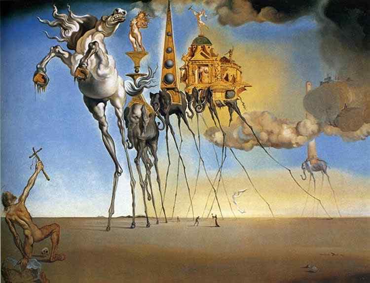 Salvador Dali - A tentação de Santo Antônio