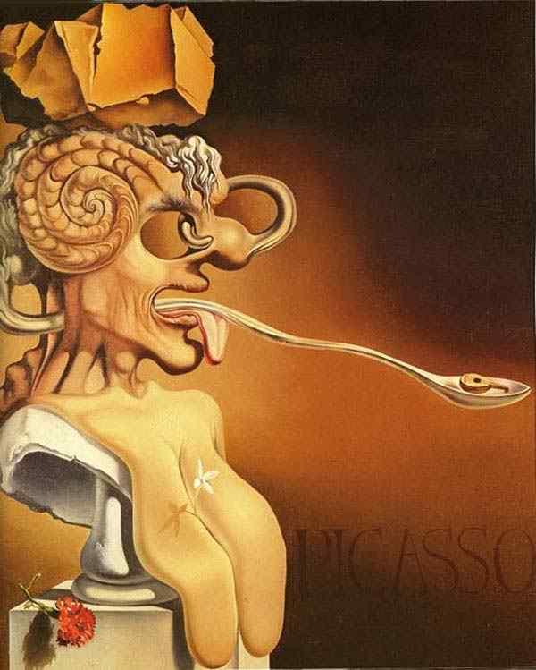 Salvador Dali - Retrato de Picasso