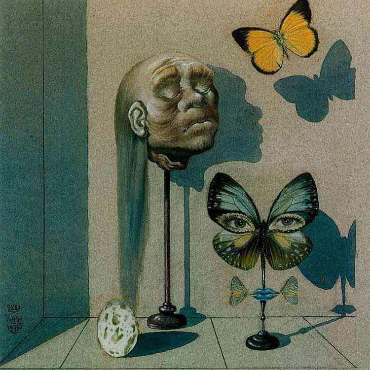 """Salvador Dali - Ilustração decorativa para """"O limite"""", de Maurice Sandoz"""