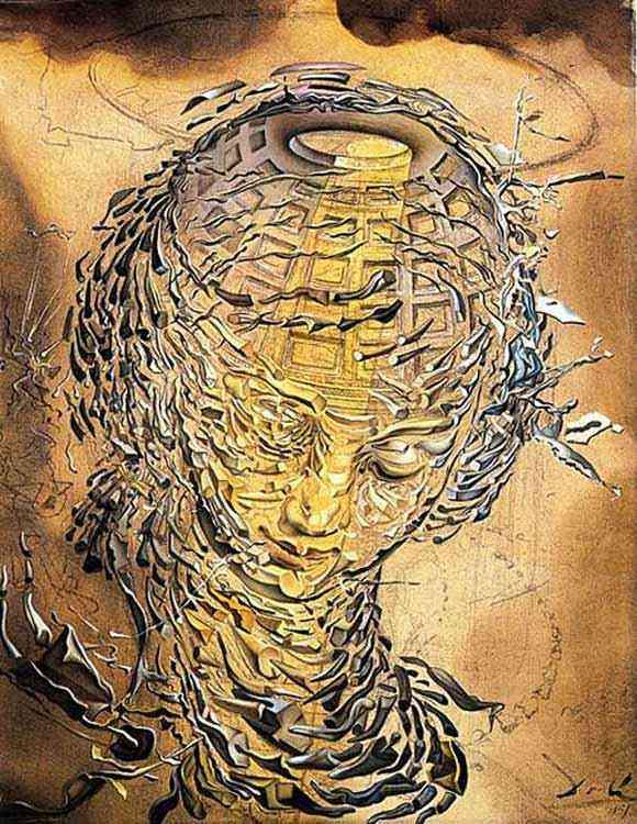Salvador Dali - Cabeça rafaelesca explodindo