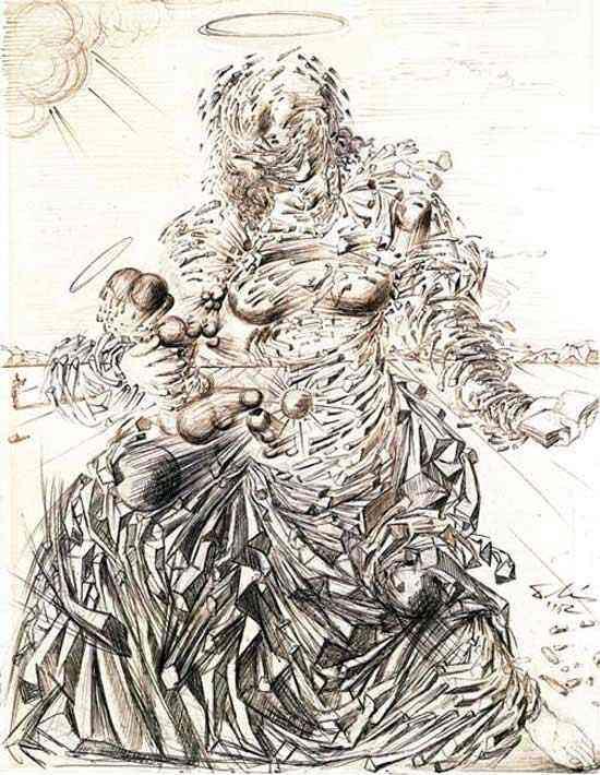 Salvador Dali - Madonna corpuscular