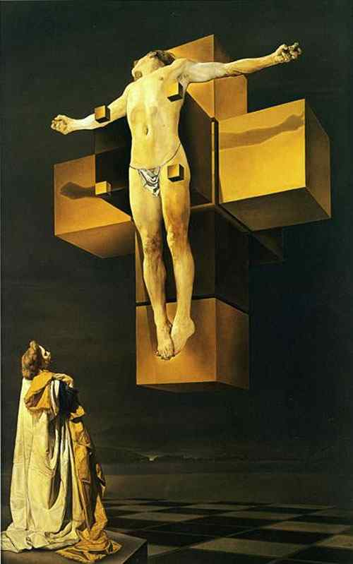 """Salvador Dali - Crucificação (""""Corpus hypercubicus"""")"""