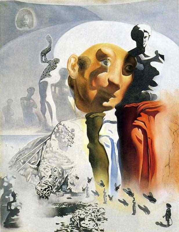 """Salvador Dali - A cara (esboço para o """"Toureador alucinógeno"""")"""