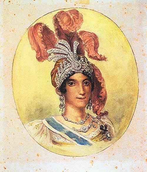 Jean_Baptiste Debret - Rainha Carlota Joaquina