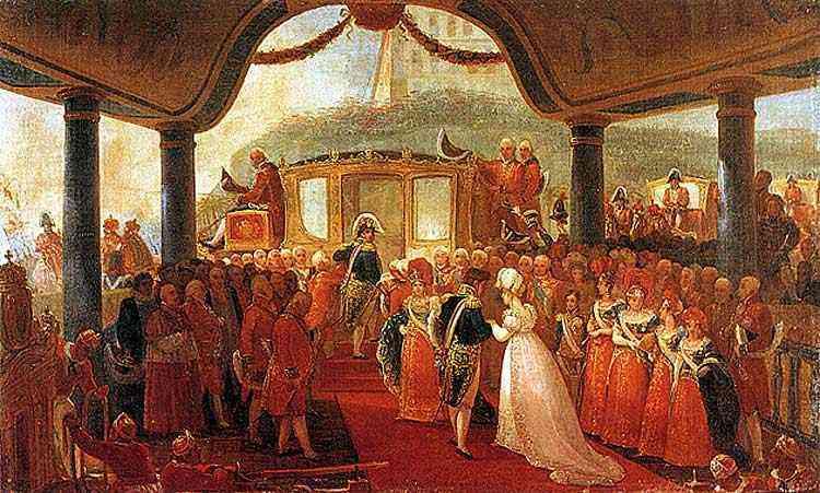 Jean_Baptiste Debret - Desembarque da Imperatriz Dona Leopoldina