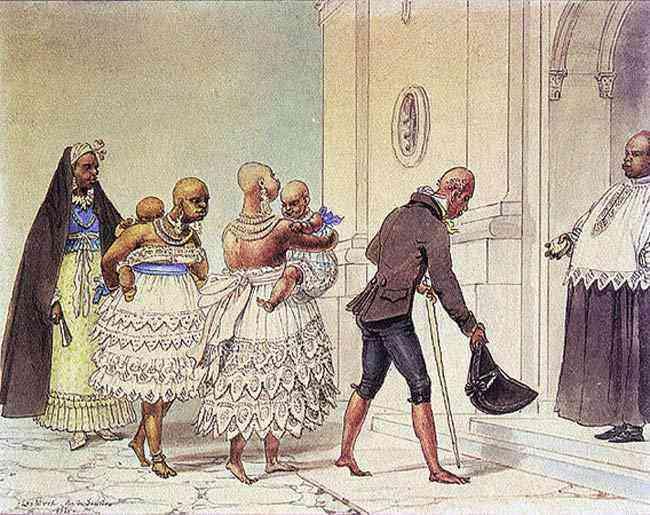 Jean_Baptiste Debret - Jovens negras indo à igreja para serem batizadas