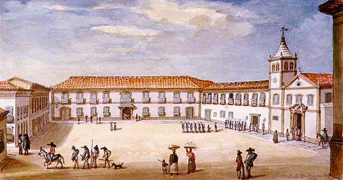 Jean_Baptiste Debret - Palácio do Governo de São Paulo