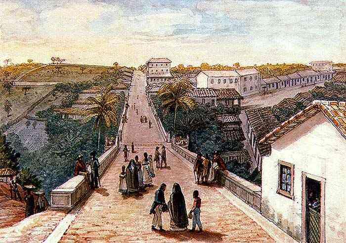 Jean_Baptiste Debret - Ponte de Santa Ifigênia