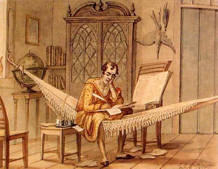 Jean_Baptiste Debret - Sábio trabalhando no seu gabinete