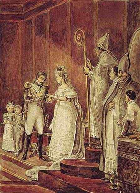 Jean_Baptiste Debret - Segundo casamento de D. Pedro I