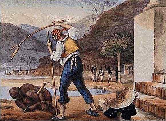 Jean_Baptiste Debret - Castigo de escravo