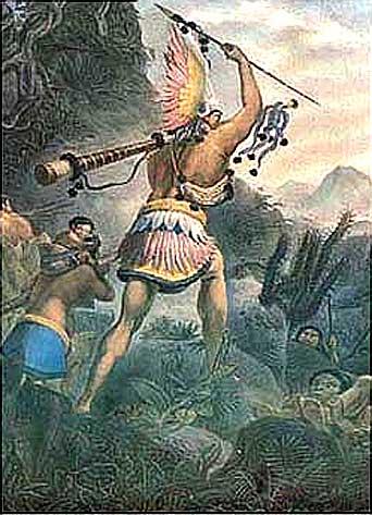 Jean_Baptiste Debret - Ilustração de guerreiros indígenas