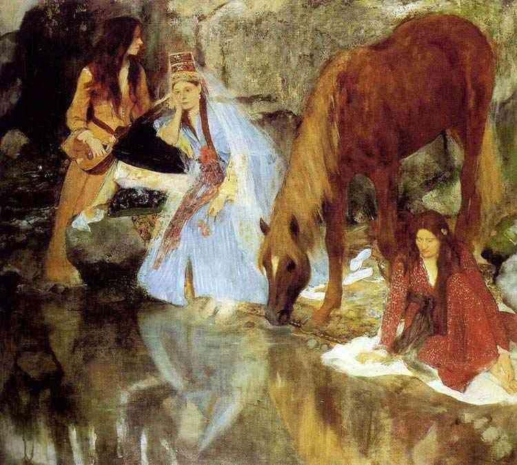 Edgar Degas - Retrato de Mademoiselle E. F. a propósito do balé La Source