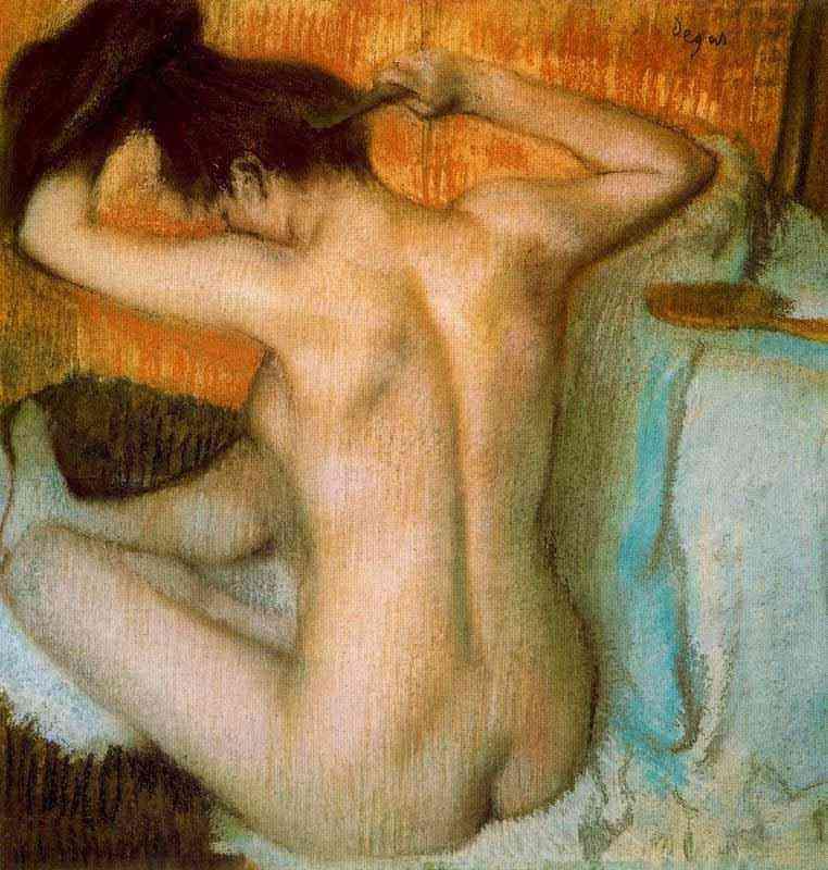 Edgar Degas - Mulher penteando os cabelos