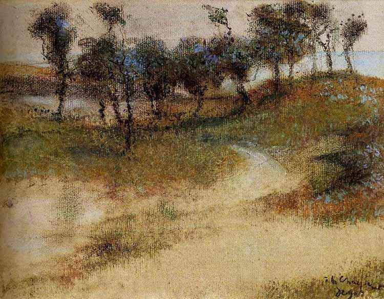 Edgar Degas - Paisagem à beira-mar