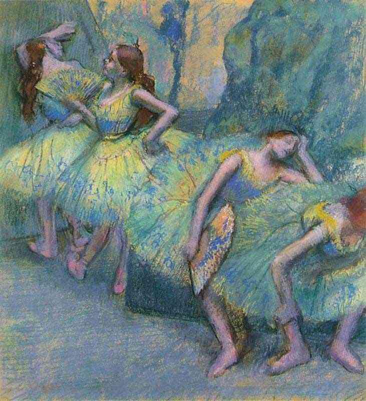 Edgar Degas - Bailarinas nas asas