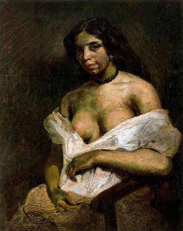 Ferdinand-Victor Eugène Delacroix - O retrato de Aspásia