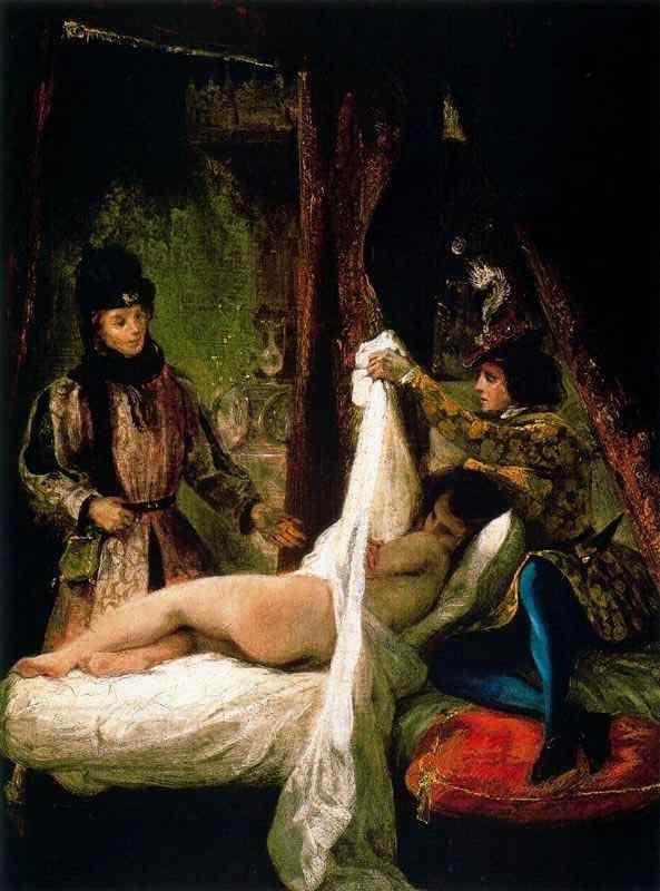 Ferdinand-Victor Eugène Delacroix - Luis de Órleans mostrando sua amante