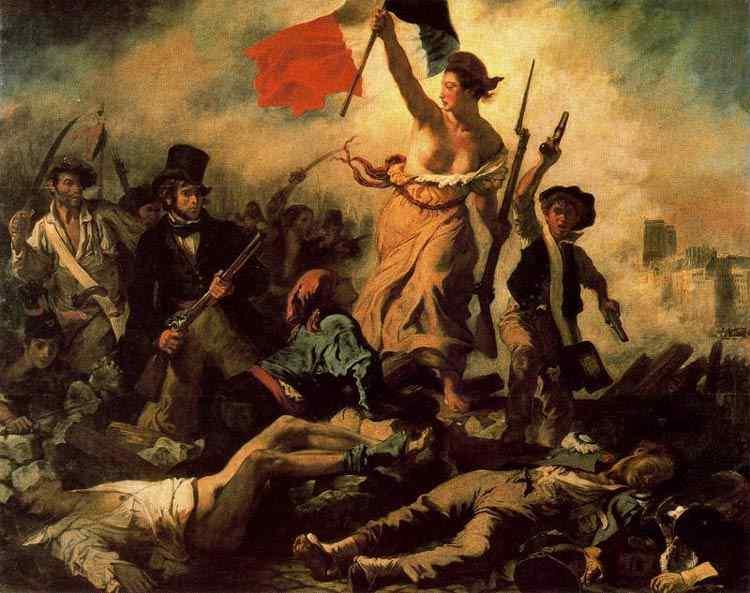Ferdinand-Victor Eugène Delacroix - A liberdade guiando o povo